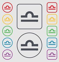 Decorative Zodiac Libra icon sign symbol on the vector image
