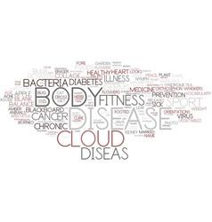 Diseas word cloud concept vector