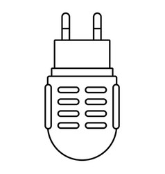 electric mosquito icon outline line style vector image