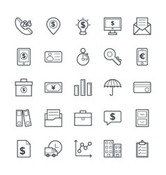 Finance Cool Icons 3 vector