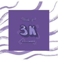 Followers thank you vector
