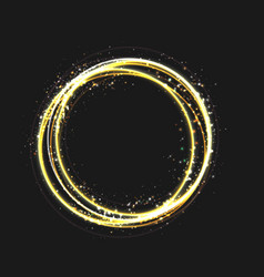 gold circle light effect with round glowing vector image