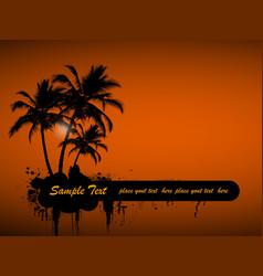 grunge island vector image