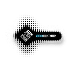 Halftone Banner vector image