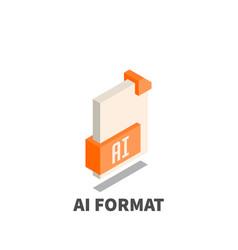 Image file format ai icon symbol vector