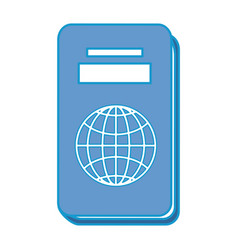 Isolated travel passport vector