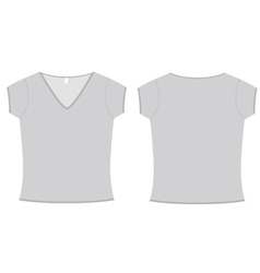 Ladies vneck tshirt template vector