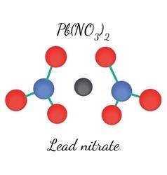 Lead nitrate PbN2O6 molecule vector