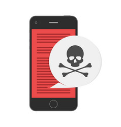 Malware notification on smaetphone vector