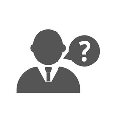 man with question mark pictogram on white vector image
