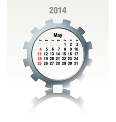 May 2014 - calendar vector image