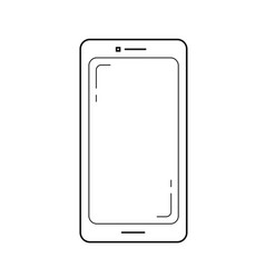 mobile phone line icon vector image