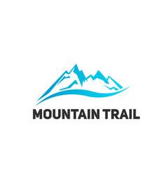 mountain tourism landscape logo vector image