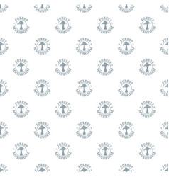 mushroom season pattern seamless vector image