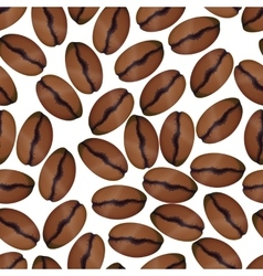 Photorealistic coffee beans on white seamless vector image