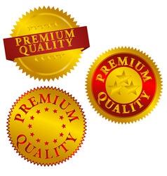 premium quality seals vector image