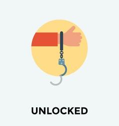 Prison Handcuff Icon vector