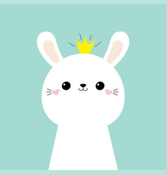 rabbit bunny face head icon kids print for poster vector image
