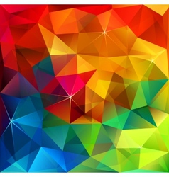 Rainbow colors triangular pattern vector image