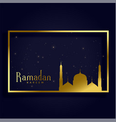 Ramadan kareem islamic month card design vector