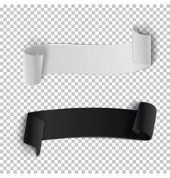 Ribbon Banner Set 3D Realistic vector image