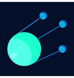 Satellite icon cartoon style vector image