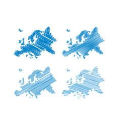 scribble europe map vector image