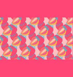Seamless pattern strawberrys virtual vector