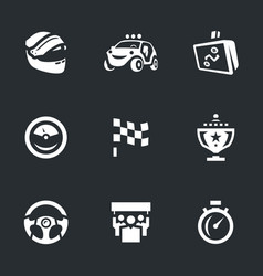 Set of rally icons vector