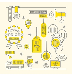 Set of sale tags label shopping design elements vector
