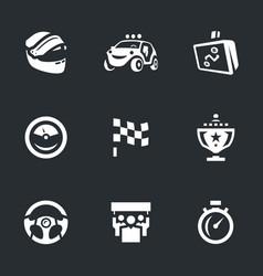 set rally icons vector image