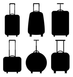 set suitcase icons vector image