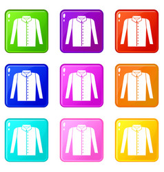 Shirt set 9 vector