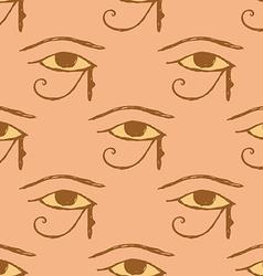 Sketch Osiris eye in vintage style vector
