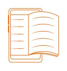 Smartphone book homework home education line color vector