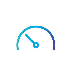 speedometer gauge line icon outline sign linear vector image