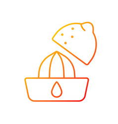 Squeeze lemon gradient linear icon vector