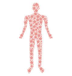 star pentagram human figure vector image