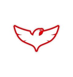 Sticker eagle vector