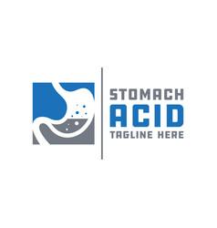 Stomach acid health logo vector