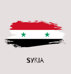 Syria watercolor national country flag icon vector