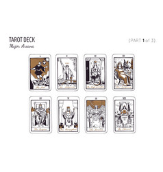 Tarot card deck major arcana set part 3 3 vector