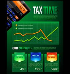 tax services brochure vector image vector image