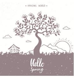 tree spring vector image