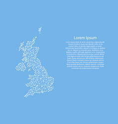 united kingdom map from abstract futuristic vector image