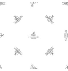 wedding jewellery pattern seamless vector image