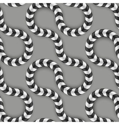 Zig Zag Stripes Optical Seamless Pattern Some vector image