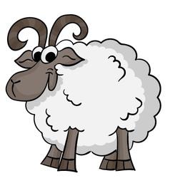 Cute cartoon sheep vector image
