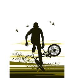 extreme biker vector image vector image