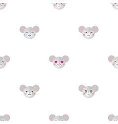 flat cartoon mouse heads with different vector image